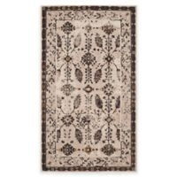 Safavieh Serenity Collection Iris 3-Foot 3-Inch x 5-Foot 3-Inch Area Rug in Cream/Brown