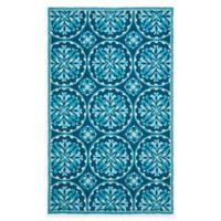 Safavieh Four Seasons Medallion 5-Foot x 7-Foot Indoor/Outdoor Area Rug in Blue Multi