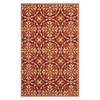 Safavieh Four Seasons Medallion 8-Foot x 10-Foot Indoor/Outdoor Area Rug in Red/Orange