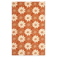 Safavieh Four Seasons Daisy 3-Foot 6-Inch x 5-Foot 6-Inch Indoor/Outdoor Area Rug in Rust/Ivory