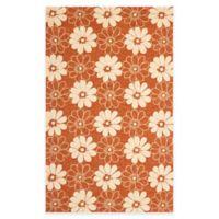 Safavieh Four Seasons Daisy 5-Foot x 8-Foot Indoor/Outdoor Area Rug in Rust/Ivory