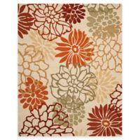 Safavieh Four Seasons Burst Floral 8-Foot x 10-Foot Indoor/Outdoor Rug in Beige/Multi