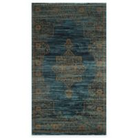 Safavieh Serenity Toby 2-Foot 3-Inch x 3-Foot 9-Inch Accent Rug in Turquoise/Gold