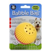Talking Babble Ball Small Pet Toy in Yellow/Red