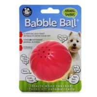 Talking Babble Ball Large Pet Toy in Yellow/Red