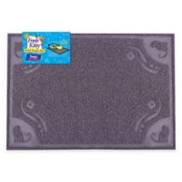 "Fresh Kitty 24"" x 16"" Decorative Litter Trapper Mat in Grey"