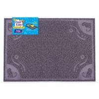 "Fresh Kitty 24"" x 16"" Decorative Litter Trapper Mat in Grey"