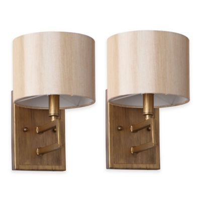 Wall Lamps Bed Bath Beyond : Safavieh Catena 1-Light Wall Sconce (Set of 2) - Bed Bath & Beyond