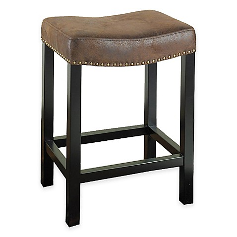 Amy Backless Stationary Bar Stool In Wrangler Brown Bed