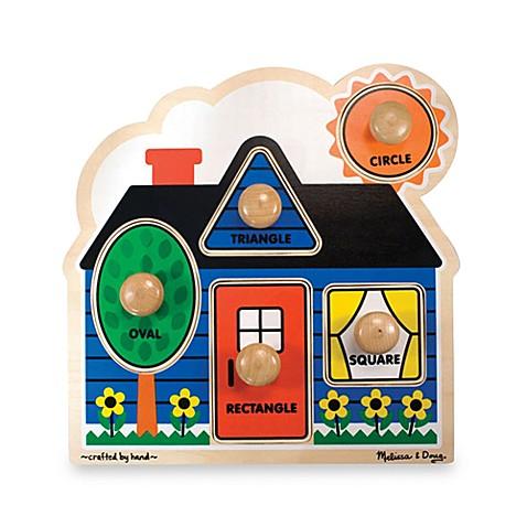 Melissa Amp Doug 174 First Shapes Jumbo Knob Puzzle Buybuy Baby