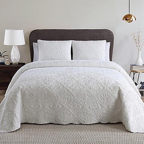 3 piece bed frame vcny westland 3 piece bedspread set bed bath beyond