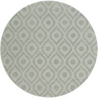 Artistic Weavers Central Park Zara 6-Foot Round Area Rug in Grey