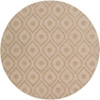 Artistic Weavers Central Park Zara 6-Foot Round Area Rug in Beige