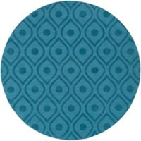Artistic Weavers Central Park Zara 6-Foot Round Area Rug in Teal