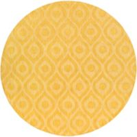 Artistic Weavers Central Park Zara 9-Foot 9-Inch Round Area Rug in Yellow