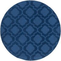 Artistic Weavers Central Park Kate 7-Foot 9-Inch Round Area Rug in Navy