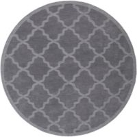 Artistic Weavers Central Park Abbey 6-Foot Round Area Rug in Charcoal Grey