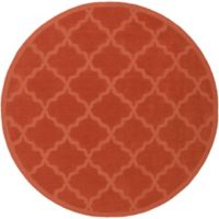 Artistic Weavers Central Park Abbey 9-Foot 9-Inch Round Area Rug in Orange