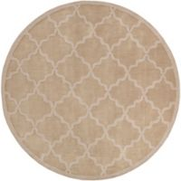 Artistic Weavers Central Park Abbey 9-Foot 9-Inch Round Area Rug in Tan