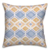 Watercolor Geo 18-Inch Square Throw Pillow in Blue/Yellow