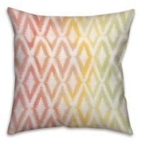 WC Ikat 18-Inch Square Throw Pillow in Pink/Yellow