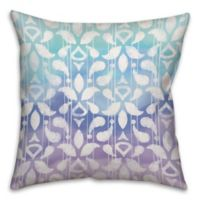 Cool Blues Watercolor 18-Inch Square Throw Pillow