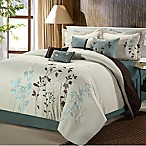 Chic Home Brooke 12-Piece King Comforter Set in Beige