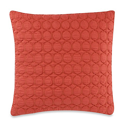 Ogee Quilt 20-Inch Square Throw Pillow in Coral - Bed Bath & Beyond