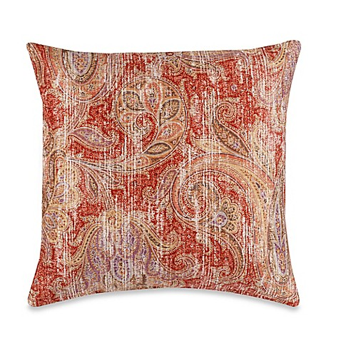 Glennifer Square Throw Pillow in Rust - Bed Bath & Beyond