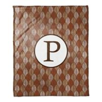 Warm Leaves Monogram Throw Blanket