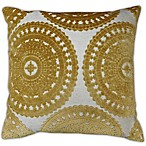 Sarona Medallion Square Throw Pillow in Yellow