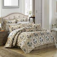 Chic Home Alessandro 9-Piece Queen Comforter Set in Beige