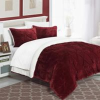 Chic Home Aurelia 2-Piece Twin/Twin XL Comforter Set in Red