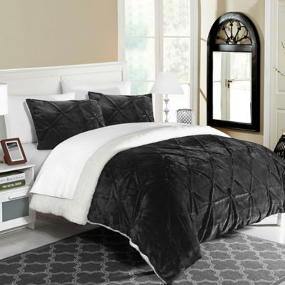 chic home aurelia 2piece twintwin xl comforter set in black