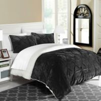 Chic Home Aurelia 2-Piece Twin/Twin XL Comforter Set in Black