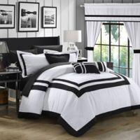 Chic Home Bertran 20-Piece Queen Comforter Set in White