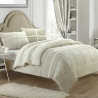 Chic Home Camille 3-Piece King Comforter Set in Beige