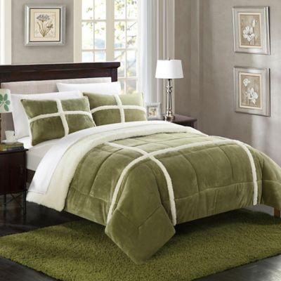 pastel damask bath open bed set lt com green shop eden and king ellen bhg sets comforter bedding degeneres