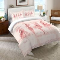 Laural Home Fashion Sketchbook Twin Comforter in Pink