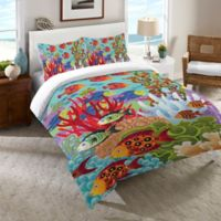 Laural Home® Fish in the Hood Twin Comforter in Teal