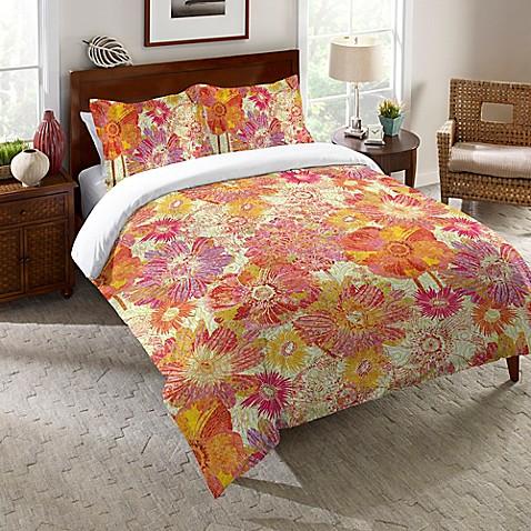 Laural Home 174 Full Bloom Comforter In Orange Bed Bath