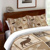 Laural Home® Country Cabin Standard Pillow Sham in Brown