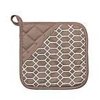 Silicone Printed Links Design Pot Holder in Beige