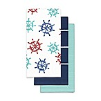 Ship Wheels Kitchen Towels (Set of 3)