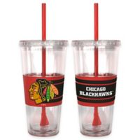 NHL Chicago Blackhawks Double Wall Hype 22 oz. Tumbler with Lid & Straw