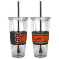MLB San Francisco Giants Double Wall Hype 22 oz. Tumbler with Lid & Straw