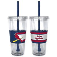MLB St. Louis Cardinals Double Wall Hype 22 oz. Tumbler with Lid & Straw