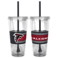 NFL Atlanta Falcons Double Wall Hype 22 oz. Tumbler with Lid & Straw