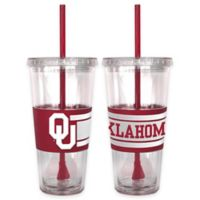 University of Oklahoma Double Wall Hype 22 oz. Tumbler with Lid & Straw