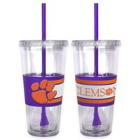 Clemson University Double Wall Hype 22 oz. Tumbler with Lid & Straw